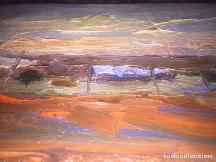 Arte: Óleo sobre tabla firmado Mir 19x13cm - Foto 3 - 165222420