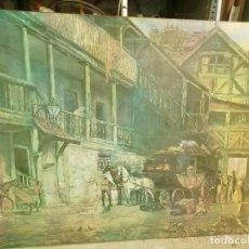 Arte: OLEO SOBRE LIENZO 1907. MEDIDAS 1,40 X1 METRO . CUADRO IMPACTANTE. Lote 165262842