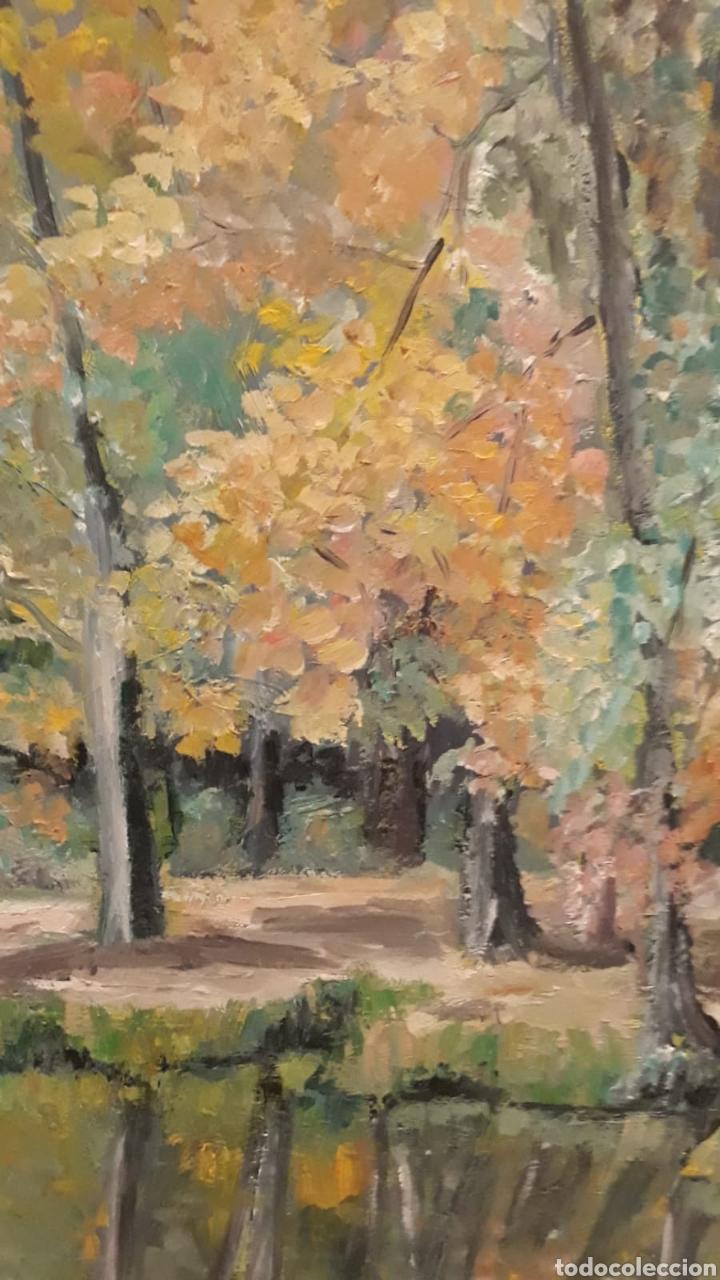 Arte: Cuadro grande pintura óleo lienzo paisaje naruraleza - Foto 3 - 165274977
