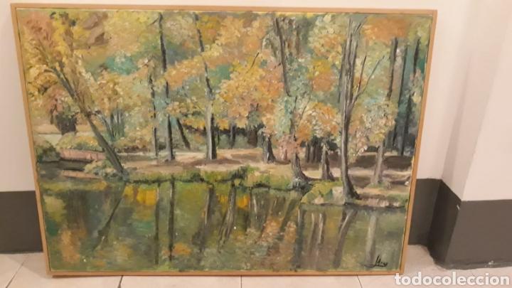 Arte: Cuadro grande pintura óleo lienzo paisaje naruraleza - Foto 4 - 165274977
