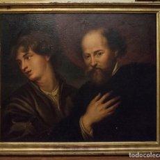 Arte: RETRATOS DE REMBRANDT Y VAN DYCK. FINALES S. XVIII. ESCUELA NAPOLITANA. Lote 165372430