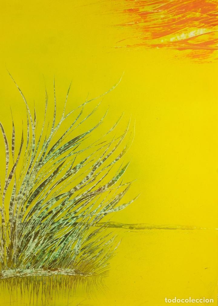 ACRÍLICO SOBRE PAPEL LAGO (Arte - Pintura - Pintura al Óleo Contemporánea )