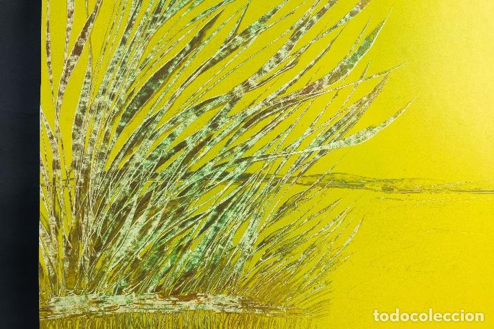 Arte: Acrílico sobre papel Lago - Foto 5 - 165381678