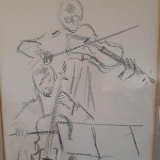 Arte: JORDI ROCA TUBAU (ARTISTA DE SABADELL) DIBUJO AL CARBON. Lote 165450750