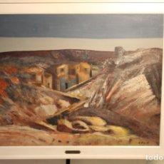 Arte: AGUSTIN DE CELIS, TITULADO ARAGÓN, ÓLEO LIENZO. Lote 165480958