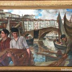 Arte: IBAÑEZ DE ALDECOA Y ARANO JULIÁN (1866-1952). PINTOR ESPAÑOL. OLEO SOBRE TELA.. Lote 165498522