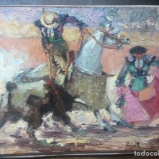 Arte: FIRMADO PUJALTE. PINTOR ESPAÑOL. OLEO SOBRE PAPEL PEGADO A MASONITE. Lote 165538982