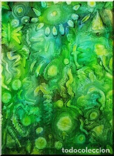 OLEO ABSTRACTO SOBRE LIENZO ( TRES COLORES ), FIRMADO (Arte - Pintura - Pintura al Óleo Moderna sin fecha definida)