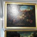 Arte: ANTIGUA PAREJA DE ÓLEO SIGLO XVIII. Lote 165635481