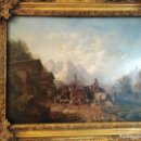 Arte: ESPECTACULAR Y ANTIGUO OLEO SOBRE TABLA SIGLO XIX XVIII ESCENA GRANJA RUSIA. Lote 163512290
