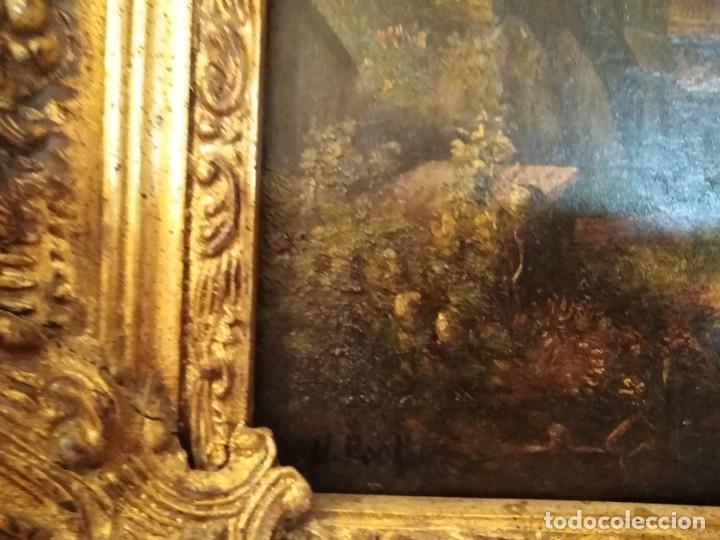 Arte: ESPECTACULAR Y ANTIGUO OLEO SOBRE TABLA SIGLO XIX XVIII ESCENA GRANJA RUSIA - Foto 10 - 163512290