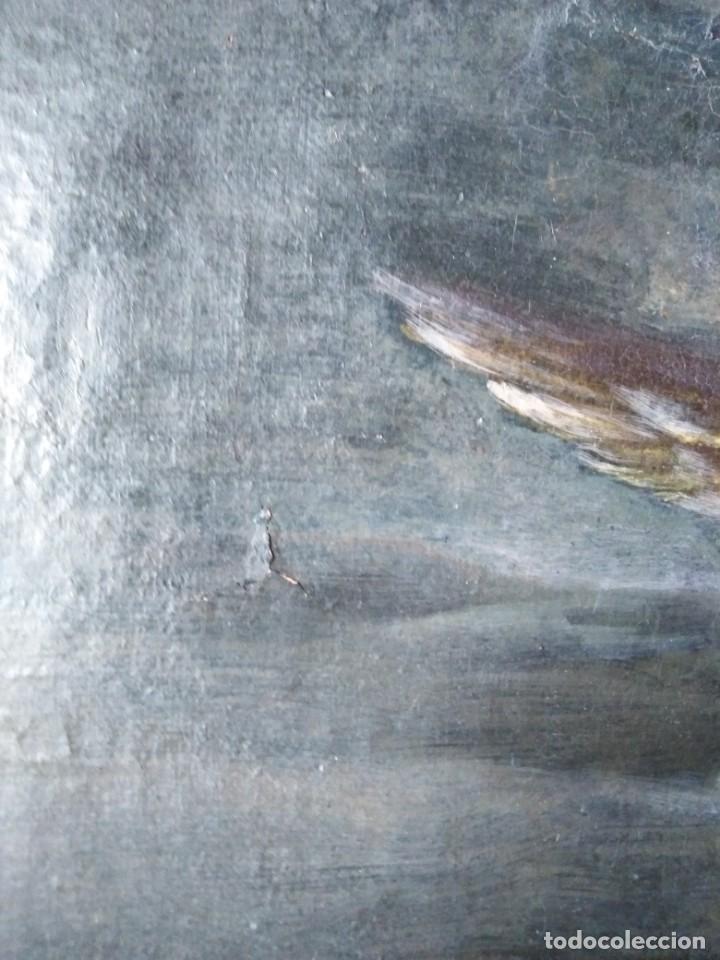 Arte: ANTIGUO OLEO SOBRE LIENZO CUPIDO SIGLO XVIII XVII // firmado atras JAP - Foto 4 - 165680862