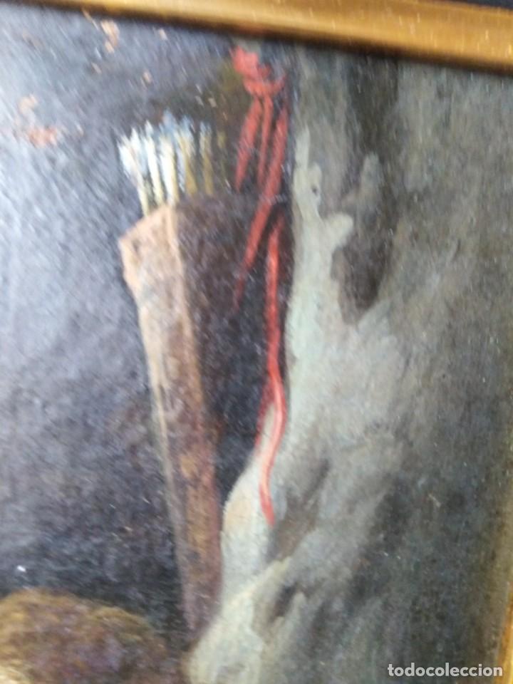 Arte: ANTIGUO OLEO SOBRE LIENZO CUPIDO SIGLO XVIII XVII // firmado atras JAP - Foto 8 - 165680862