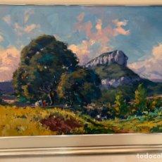 Arte: ALFONS GUBERN CAMPRECIOS 1916-1980, CASTELLAR VALLÈS ,81X60 25P, EL CINGLE DE SANT SADURNI (GALLIFA). Lote 165689569