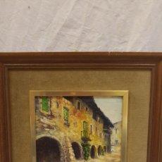 Arte: OLEO SOBRE TABLET ,J SERRA ,SANTA PAU. Lote 165722390