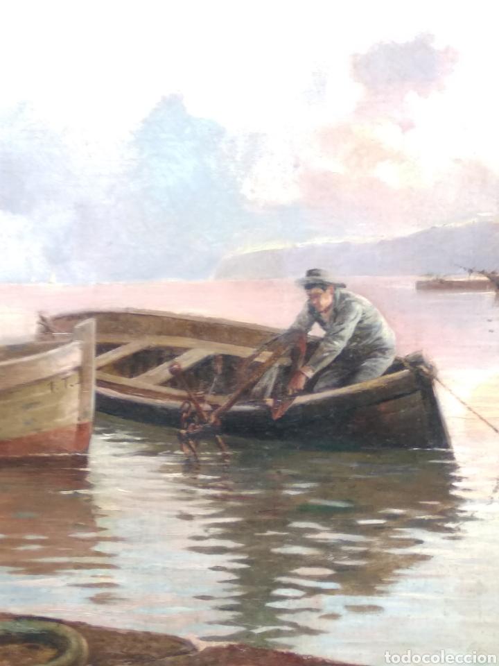 Arte: Óleo sobre lienzo siglo XIX firmado Fernández Alvarado - Foto 6 - 165725382