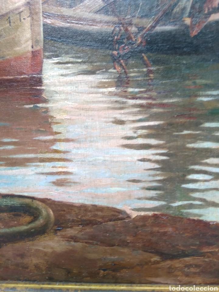 Arte: Óleo sobre lienzo siglo XIX firmado Fernández Alvarado - Foto 7 - 165725382