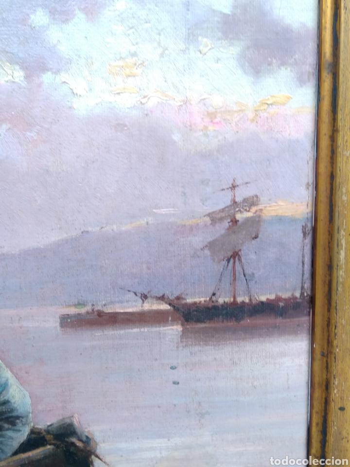 Arte: Óleo sobre lienzo siglo XIX firmado Fernández Alvarado - Foto 8 - 165725382