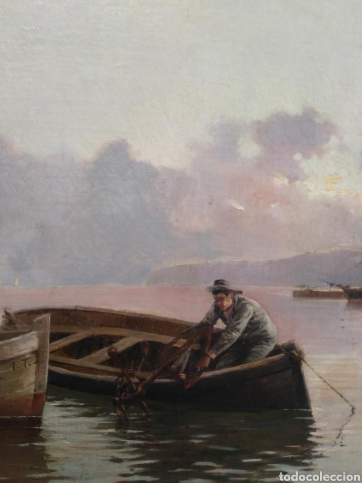 Arte: Óleo sobre lienzo siglo XIX firmado Fernández Alvarado - Foto 9 - 165725382