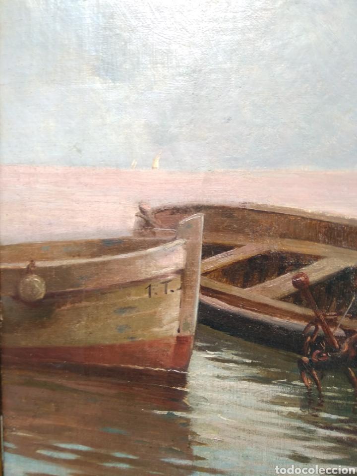 Arte: Óleo sobre lienzo siglo XIX firmado Fernández Alvarado - Foto 10 - 165725382
