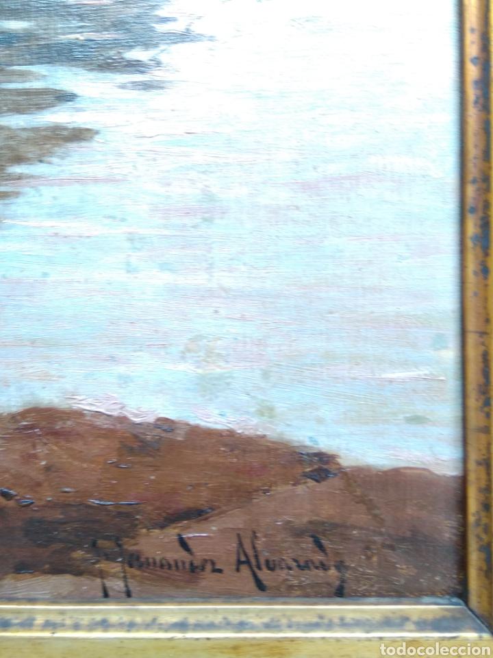 Arte: Óleo sobre lienzo siglo XIX firmado Fernández Alvarado - Foto 4 - 165725382