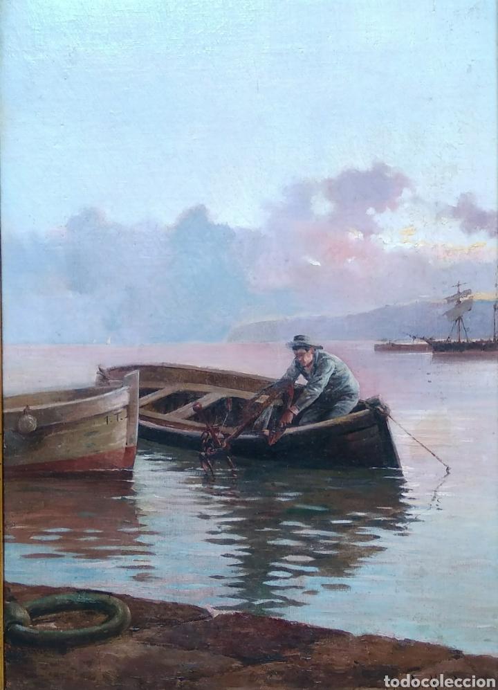 Arte: Óleo sobre lienzo siglo XIX firmado Fernández Alvarado - Foto 5 - 165725382