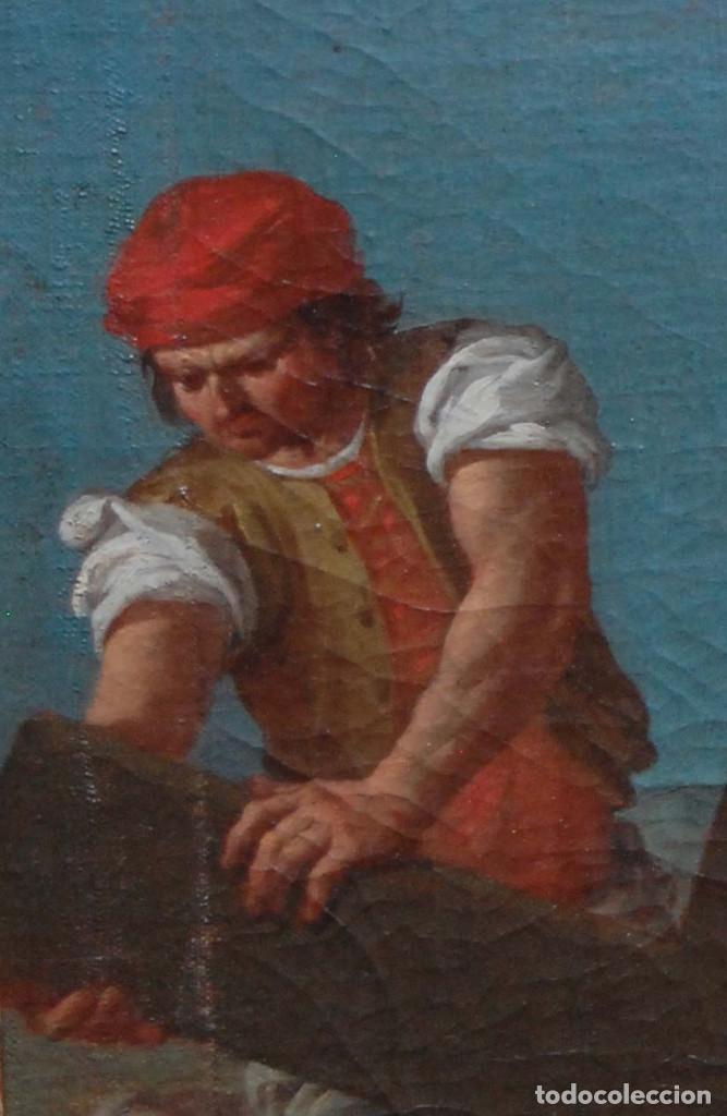 Arte: Jesús caído camino del calvario via crucis pintura antigua italiana oleo siglo XVIII - Foto 9 - 165768226