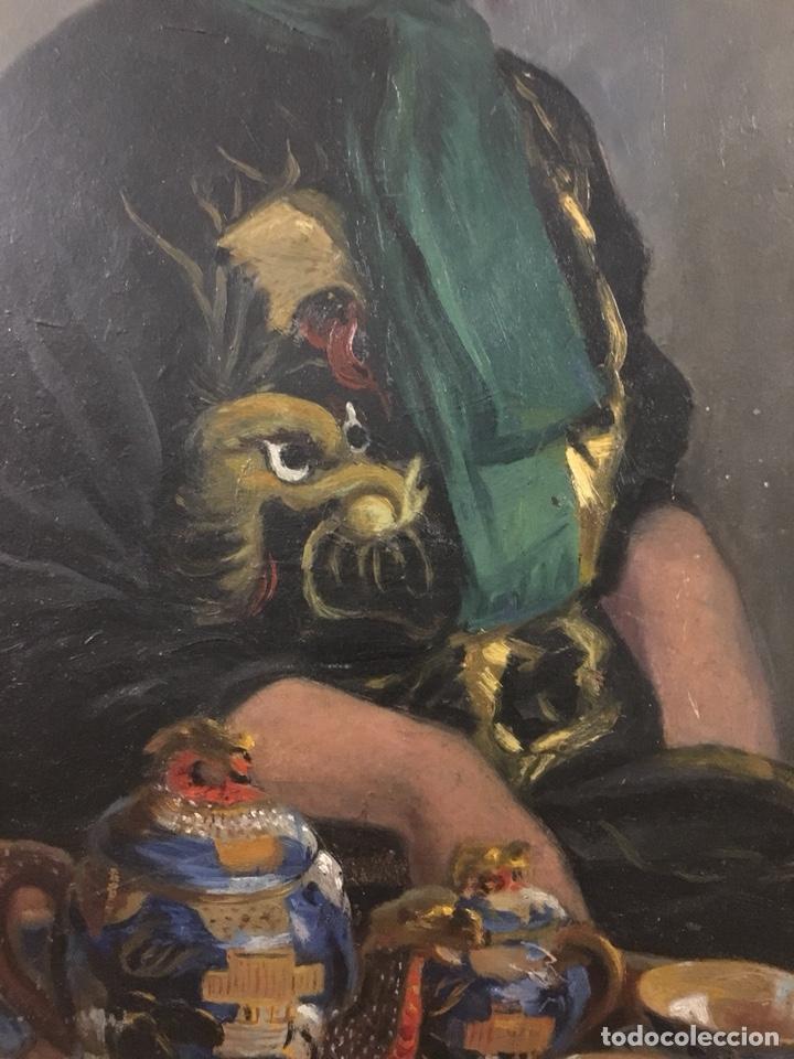 Arte: Óleo sobre cartón. Marceliano Santamaría. Firmado. Retrato femenino. - Foto 7 - 165825918