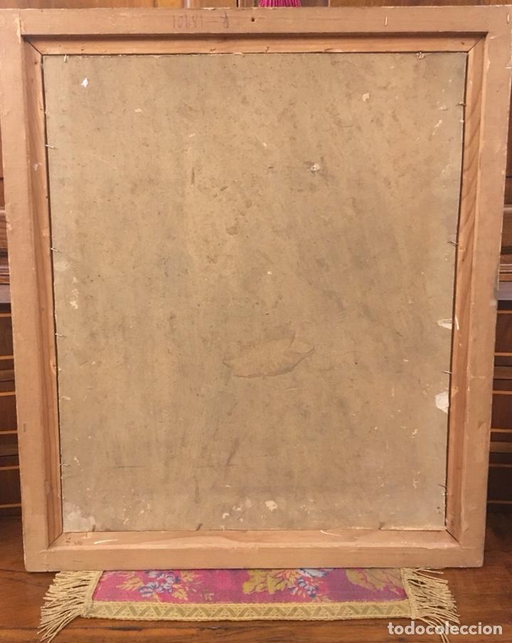 Arte: Óleo sobre cartón. Marceliano Santamaría. Firmado. Retrato femenino. - Foto 14 - 165825918