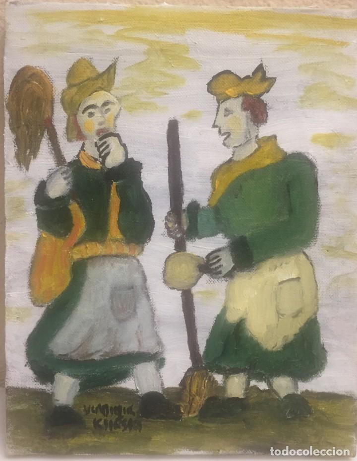 FIESTA SARDINA LOS DOS (Arte - Pintura Directa del Autor)