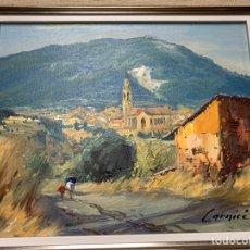 Arte: ALBERT CARNICÉ TURA, SABADELL, VISTA DE CASTELLAR DEL VALLÈS 1984, 22X16 OLEO. Lote 165875746