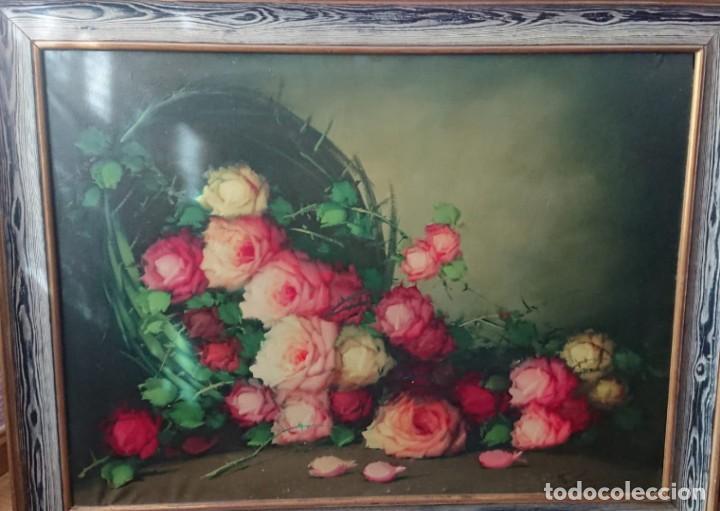 OLEO SOBRE LIENZO BODEGON FLORES TAMAÑO GRANDE (Arte - Pintura - Pintura al Óleo Contemporánea )