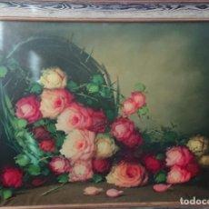 Arte: OLEO SOBRE LIENZO BODEGON FLORES TAMAÑO GRANDE. Lote 165885338