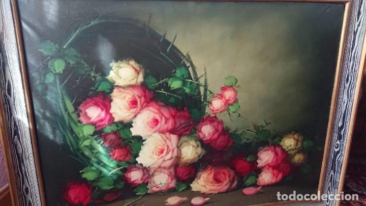 Arte: OLEO SOBRE LIENZO BODEGON FLORES TAMAÑO GRANDE - Foto 4 - 165885338