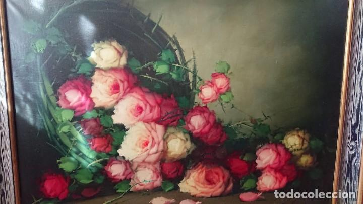 Arte: OLEO SOBRE LIENZO BODEGON FLORES TAMAÑO GRANDE - Foto 5 - 165885338
