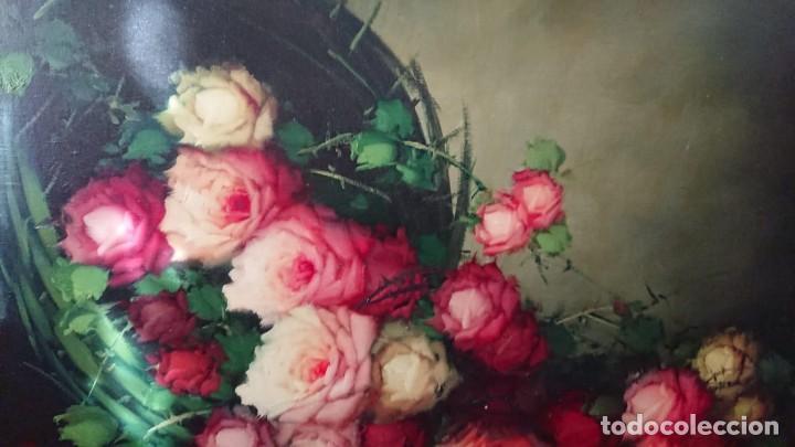 Arte: OLEO SOBRE LIENZO BODEGON FLORES TAMAÑO GRANDE - Foto 6 - 165885338