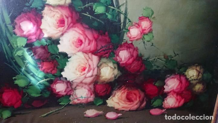Arte: OLEO SOBRE LIENZO BODEGON FLORES TAMAÑO GRANDE - Foto 9 - 165885338