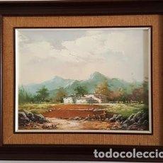 Arte: CUADRO - PINTURA OLEO SOBRE LIENZO - PAISAJE RURAL. Lote 166020818