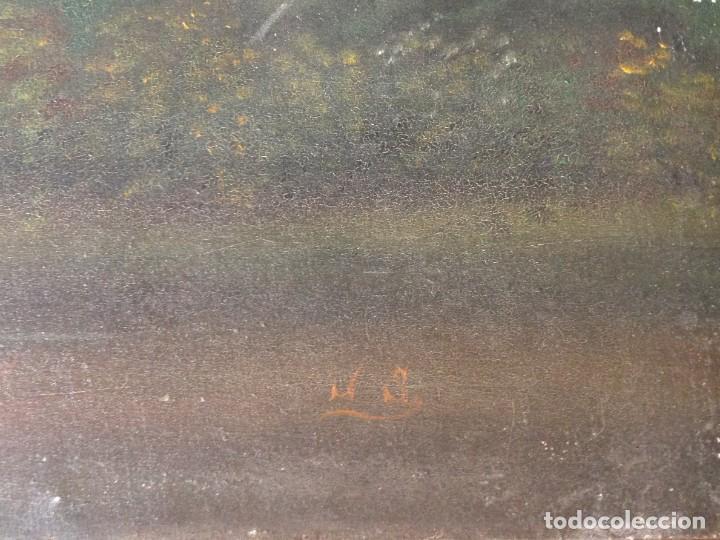 Arte: PAISAJE - ÓLEO SOBRE LIENZO - PRINCIPIOS SIGLO XX - FIRMADA - Foto 6 - 166023434