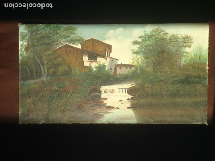 PAISAJE - ÓLEO SOBRE LIENZO - PRINCIPIOS SIGLO XX - FIRMADA (Arte - Pintura - Pintura al Óleo Moderna sin fecha definida)