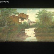 Arte: PAISAJE - ÓLEO SOBRE LIENZO - PRINCIPIOS SIGLO XX - FIRMADA. Lote 166023434