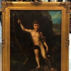 Arte: EXTRAORDINARIO SAN JUANITO, ESCUELA ESPAÑOLA S. XVIII. Lote 166024510