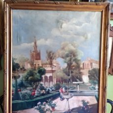 Arte: IMPRESIONANTE PINTURA ESCUELA SEVILLANA , OLEO SOBRE LIENZO SIGLO XIX . Lote 166034918