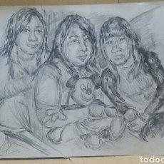 Arte: DIBUJO MOMENTOS ORIGINAL. Lote 166050394