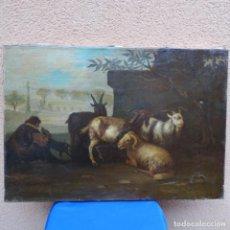 Arte: OLEO ESCUELA BARNIZON.BUEN TRAZO.EXCELENTE OBRA.MAESTRO.. Lote 166060150