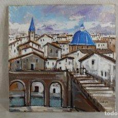 Arte: PAISAJE URBANO ORIGINAL FIRMADO, OLEO SOBRE LIENZO. Lote 175733898
