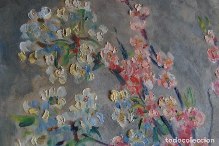 Arte: EXCELENTE ÓLEO SOBRE LIENZO - FIRMADO BARTH - ENMARCADO EN KÖLN, ALEMANIA -AÑOS 40 -FLORES - BODEGÓN - Foto 15 - 166090946
