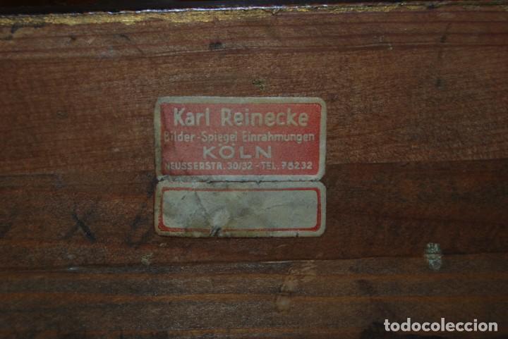 Arte: EXCELENTE ÓLEO SOBRE LIENZO - FIRMADO BARTH - ENMARCADO EN KÖLN, ALEMANIA -AÑOS 40 -FLORES - BODEGÓN - Foto 25 - 166090946