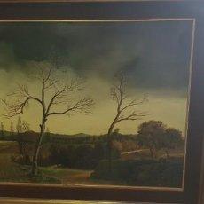 Arte: OLEO SOBRE LIENZO PINTOR FRANCES VÍCTOR MANVER PAISAJE. Lote 185887188