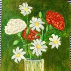 Arte: ÓLEO CON BODEGÓN CON FLORES. Lote 166138794